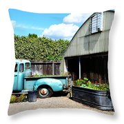 Planted Truck Bed Throw Pillow