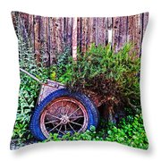 Planted Wheel Throw Pillow