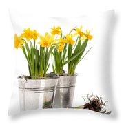 Planting Bulbs Throw Pillow by Amanda Elwell