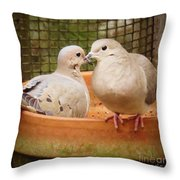 Planting Friendship Throw Pillow