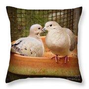 Planting Friendship Throw Pillow