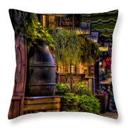 Plants And Boardwalk H Throw Pillow