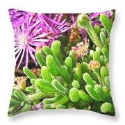 Plants Flowers Throw Pillow