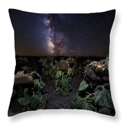Plants Vs Milky Way Throw Pillow