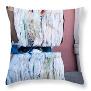 Plastic Bags To Be Recycled Throw Pillow