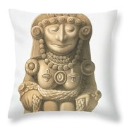 Plate From Ancient Monuments Of Mexico Throw Pillow