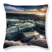 Plate Ice Brighton Beach Duluth Throw Pillow
