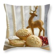 Plate Of Mince Pies Throw Pillow