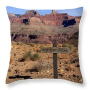 Plateau Point Grand Canyon Throw Pillow