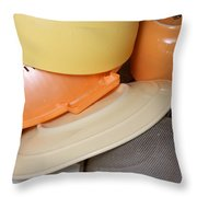 Plates Dishes And Cups Drying Throw Pillow