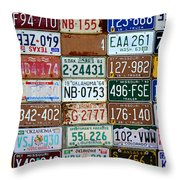Plates Throw Pillow