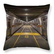 Platform Eight At Union Station Throw Pillow