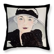 Platinum Chic Throw Pillow