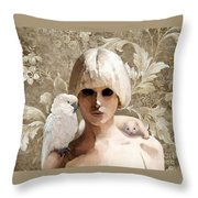 Platinum Friends Throw Pillow