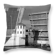 Platt Street Bridge Opening Throw Pillow by David Lee Thompson