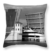 Platt Street Bridge Up Throw Pillow