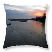 Platte River, Nebraska Throw Pillow