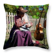 Play A Song For Me Throw Pillow