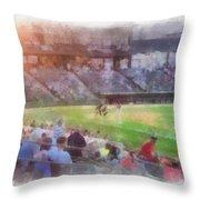 Play Ball Photo Art Throw Pillow