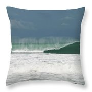Playa Hermosa Wave Number Two Central Pacific Coast Costa Rica Throw Pillow