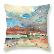 Playa Honda In Lanzarote 01 Throw Pillow