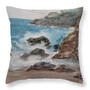 Playa Zicatela Mexico Throw Pillow