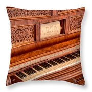 Piano Keys In The Key Of Life Throw Pillow