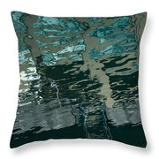 Playful Abstract Reflections Throw Pillow