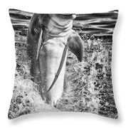 Playful Black And White Throw Pillow