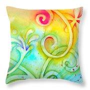 Playful Fancy Throw Pillow