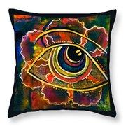 Playful Spirit Eye Throw Pillow