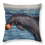 Playful V9 Throw Pillow