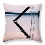 Playground Slide In Lake Throw Pillow