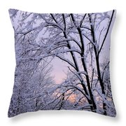 Playhouse Through Snow Throw Pillow