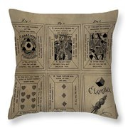 Playing Cards Patent Throw Pillow