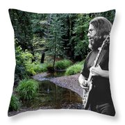 Playing For The Creek 2 Throw Pillow