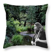 Playing For The Creek 3 Throw Pillow
