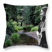 Playing For The Creek Throw Pillow