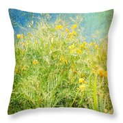 Playing In The Breeze Throw Pillow by Janice Sakry