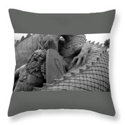Playing In The Sand Throw Pillow