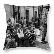 Playing Jazz On Royal Street Nola Throw Pillow