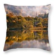 Playing Mirror. Loch Achray. Scotland Throw Pillow
