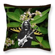Playing Notes With Wings Throw Pillow