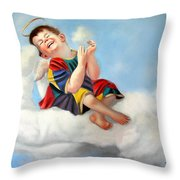 Playing On The Job Throw Pillow by Anthony Falbo