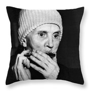 Playing On The Streets For Pennies Throw Pillow