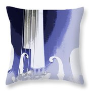 Playing On The Strings Throw Pillow