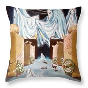 Playing The Beyond  Throw Pillow