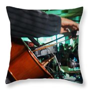 Playing The Cello  Throw Pillow