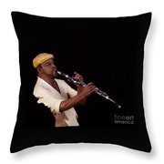 playing the Clarinet Throw Pillow