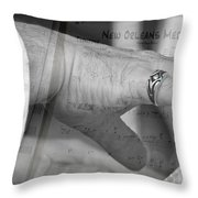 Playing The Medley Throw Pillow